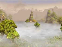 Temple in the Mist by KZ-KW