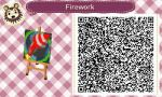 AC: New Leaf QR Code: Firework by GamefreakDX
