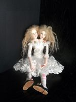 Sitting Conjoined twins by Rhissanna