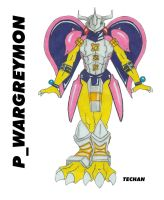 Pink_Wargreymon by techan