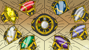 XI Generation Vongola Rings by AriaSnow