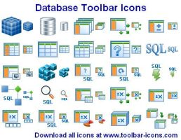 Datenbank Toolbar Icons by Ikont