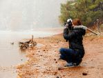 Shooting in the Snow by kayaksailor