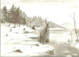 Winter Lake by Lootra