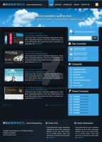 wordpress layout 4 by hvdesignz