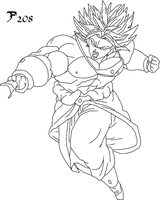 Broly VS Unknow by Sasuderuto