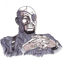 Sam Jackson as Nick Fury by StevenWilcox