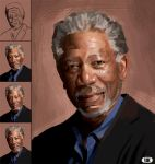 Morgan Freeman Speed Paint! by Paganflow