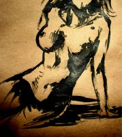 Ink Sketch of Nude Girl by taylorweaved