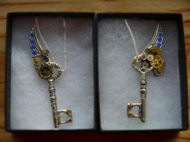 Set of Winged SteamPunk keys by mike12345567