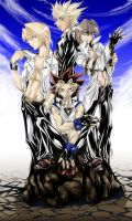 Yu Gi Oh Bishi group colored by Meiphon
