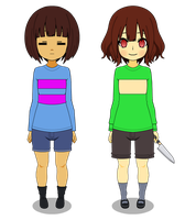 Frisk and Chara by SdrawcabDaer
