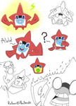 Here is some Rotom fanart~ by Helen-M123