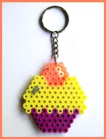 Cupcake Keychain by cherryboop