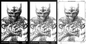 Red Skull Ink Progressions By Misfit over Leinil Y by Bob-Misfit-Modelski