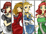 The Ladies of _spiked_tea_ by Pastoral-Insanity