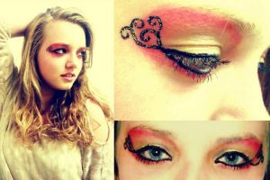 Lisa Pink yellow heaven makeup by DreamyEyesDesigns