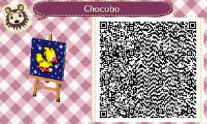 ACNL Chocobo QR Code by Ooakfeather