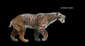 Smilodon fatalis fullview by Dantheman9758