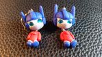 Chibi Chubs: Optimus Prime Earrings by Laserbot