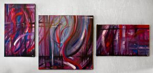 Oil Triptych II by MD-Arts