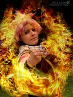 [Natsu Dragneel] 'I'm all fired up!!' by Bluemi-chan