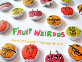 Fruit Weridos Buttons by TRAVALE
