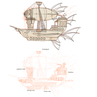Pirate Ship Wip by griffsnuff