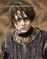 Maisie Williams as Arya Stark 01 by Vladsnake
