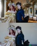 royality before  after by Polinamay
