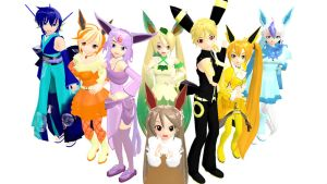 Eeveelutions set 1 by Your-friend-Sushi