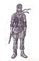 Solid Snake Drawing II sketch by zilfana