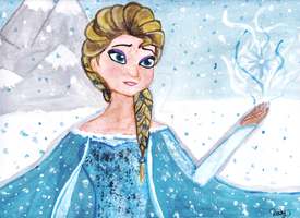 Queen Elsa-FROZEN by SerenaChildOfMoon