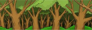 Background trees by Crossabre