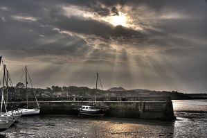 Musselburgh Harbour by Spyder-art
