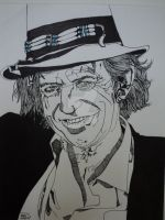 Keith Richards by LVMysticmirrorsart