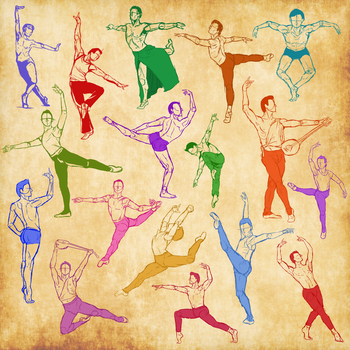 Male Ballet Sketches by Anonymous-Shrew