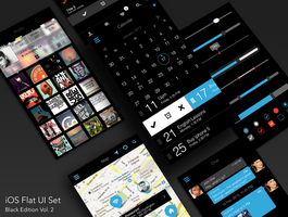 Ios Flat Ui Set Black Edition Vol 2 by RosscoMT