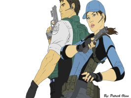 Jill And Chris Re5 Unfinished by PatrickOlsen