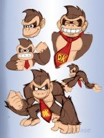 Donkey Kong Doodles by rongs1234