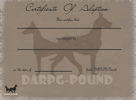 DARPG-Pound Adoption Certificate by Hollow-Heaven