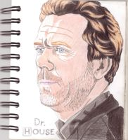 Hugh Laurie Dr House by golhom