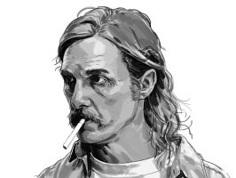 Rust Cohle Digital Painting study by Shrptooth