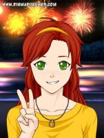 GNU:Soleanna(Anime Style Humanized) by Quinto-Guardian
