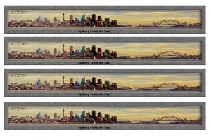 Sydney from the east 4 pack by yewenyi