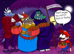 Trick-or-Treaters in DK Jungle (2013) by LazyAsHell