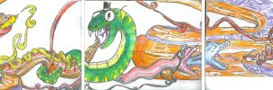 SNAKE PARTY detail by Silent-Pea