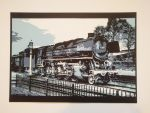 Train at the station Papercut by EternityArtist