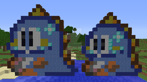 Bob (Puzzle Bobble arcade+SNES) redone, Minecraft by superslinger2007