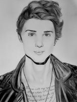 Ryan Follese portrait by Thessa-drawings